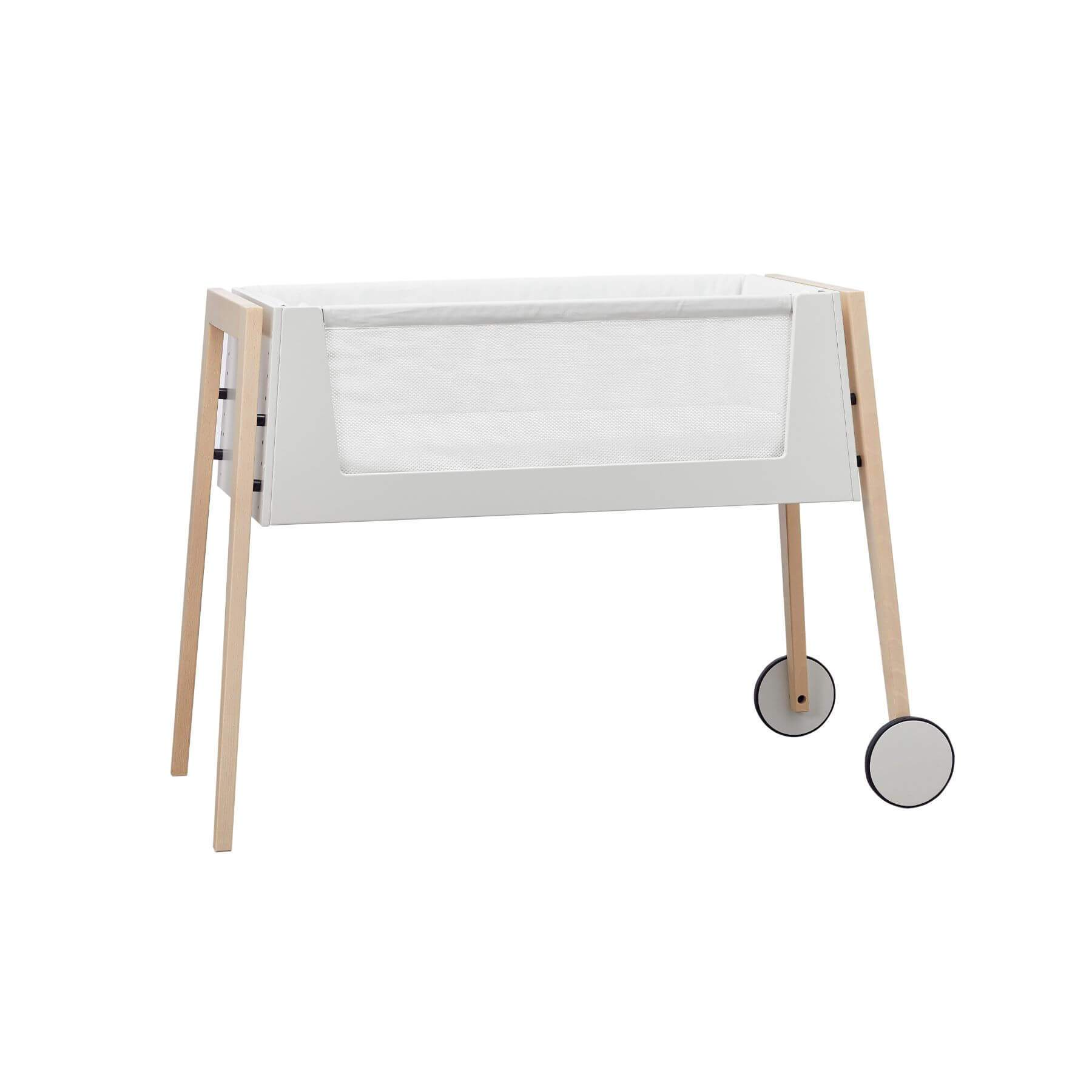 Leander Linea Side by Side Bed - Beech