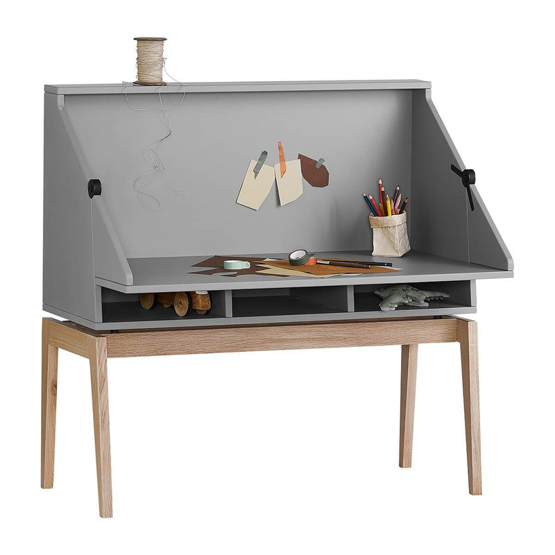 Leander Luna Desk - Grey/Oak