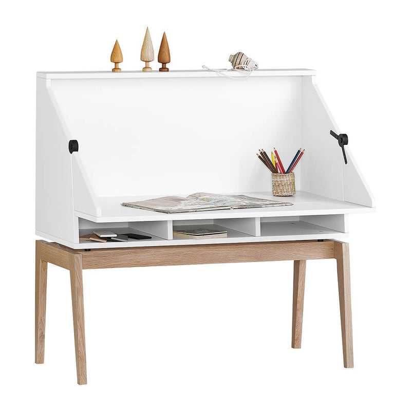 Leander Luna Desk - White/Oak