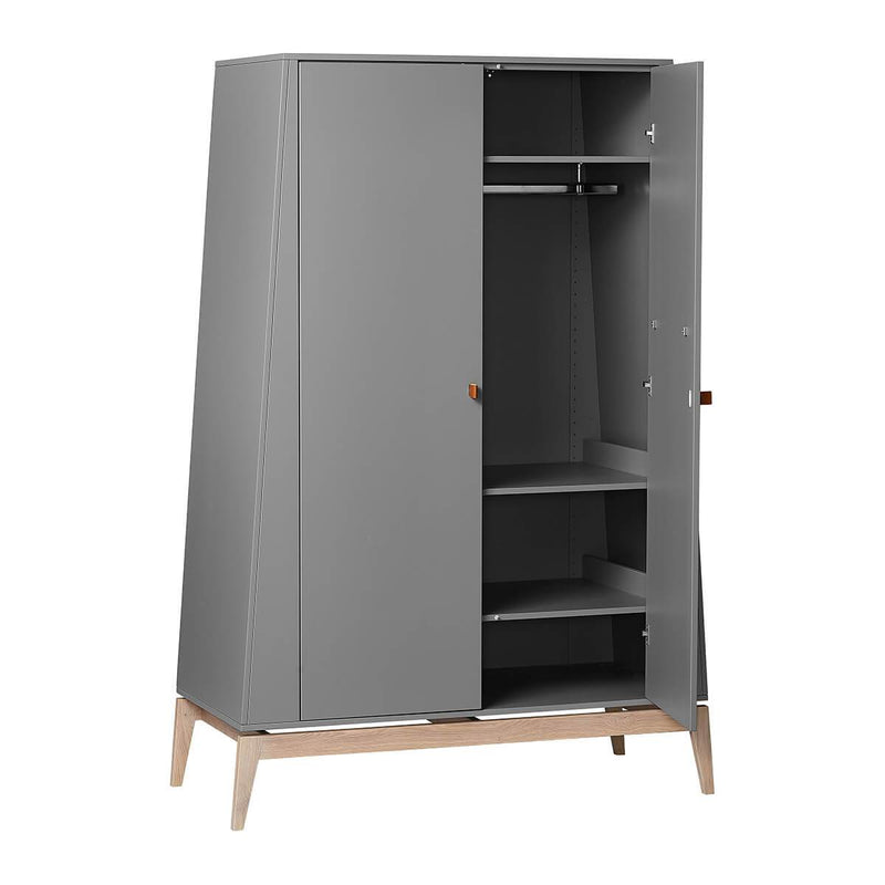Leander Luna Wardrobe (large) - Grey/Oak