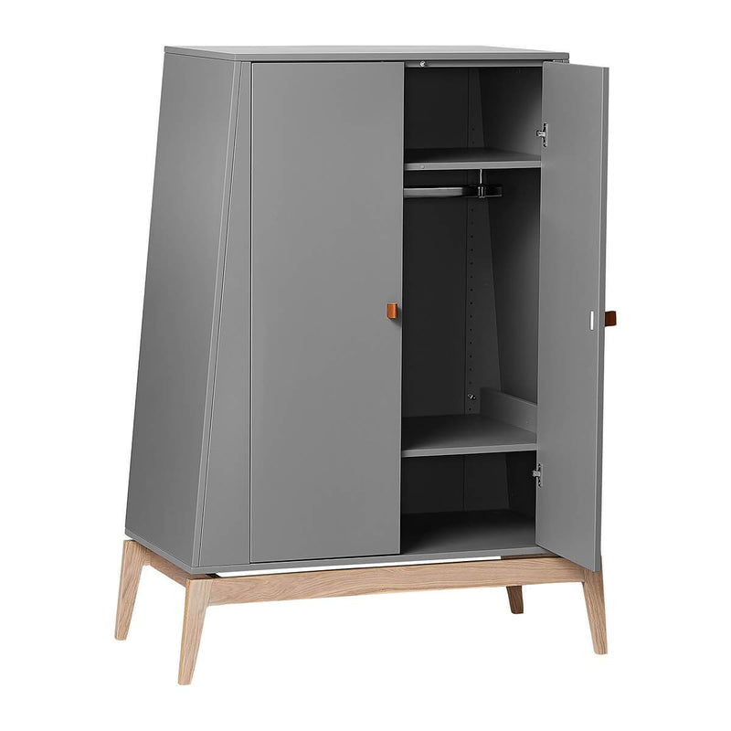 Leander Luna Wardrobe (small) - Grey/Oak