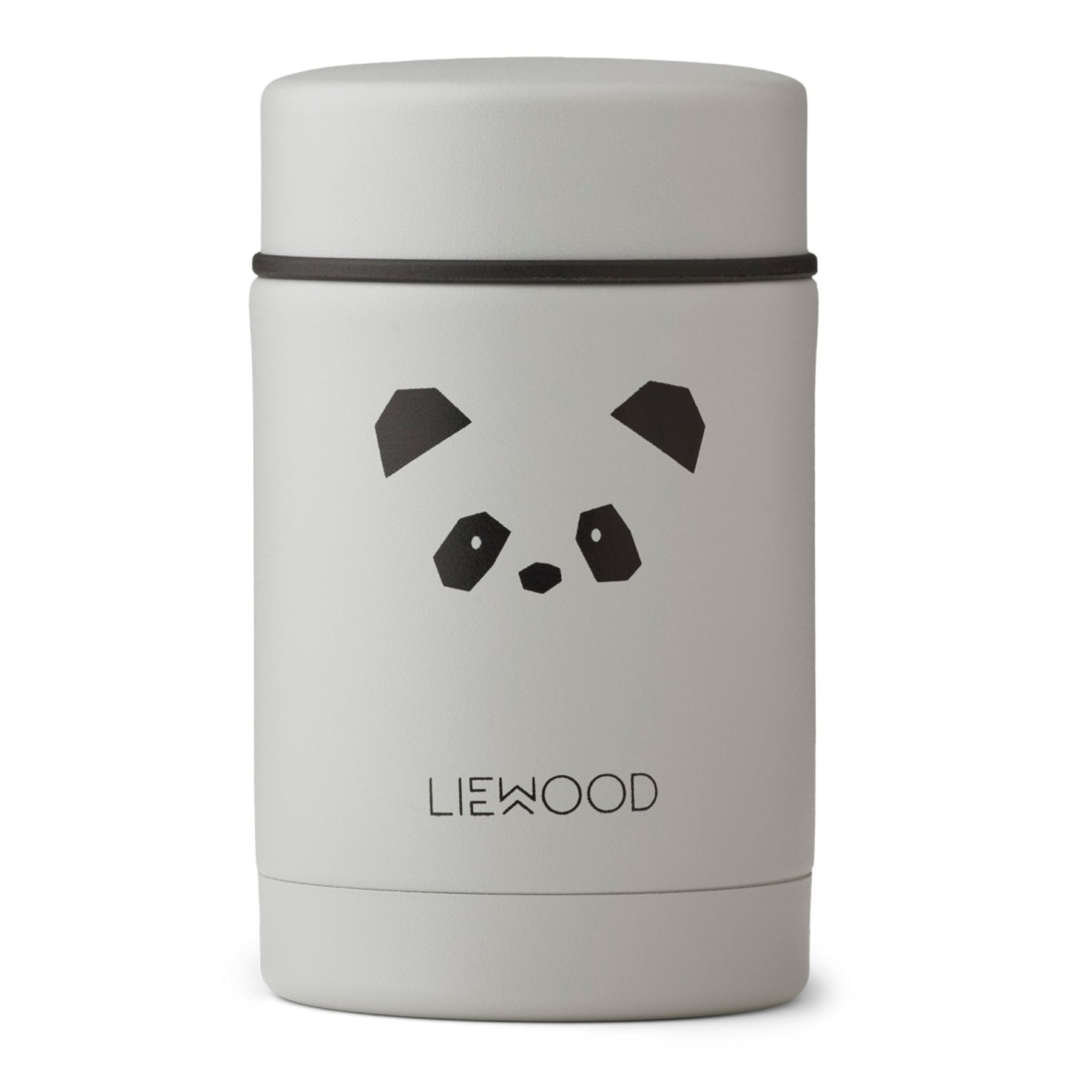 Liewood Nadja Food Jar - Panda Light Grey