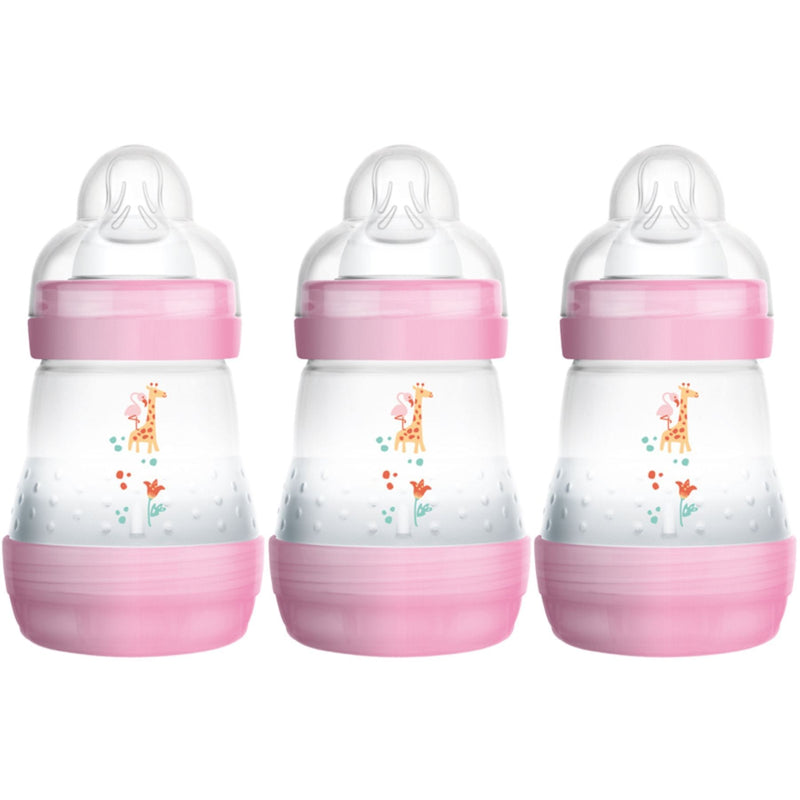 MAM 160ml Anti-Colic Bottle (3 pack) - Pink