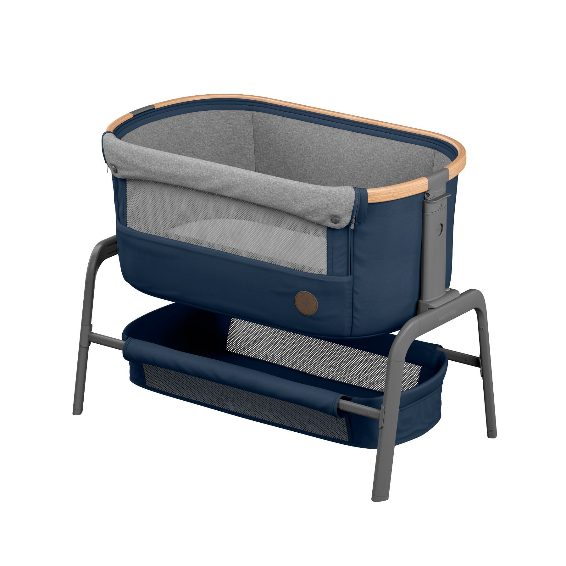 Maxi Cosi Iora Co-Sleeper - Essential Blue Gear Maxi Cosi