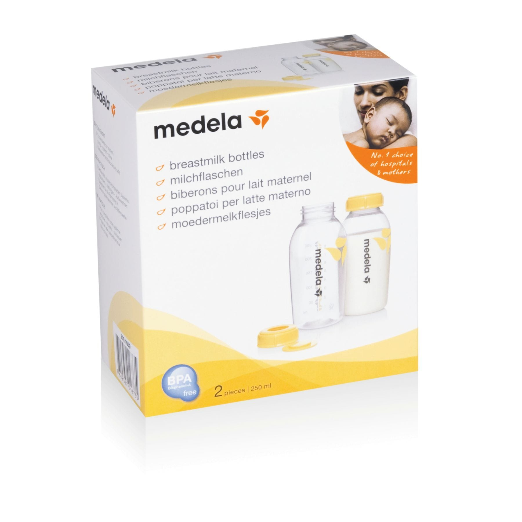 Medela Breastmilk Storage Bottles 250 ml Pack of 2