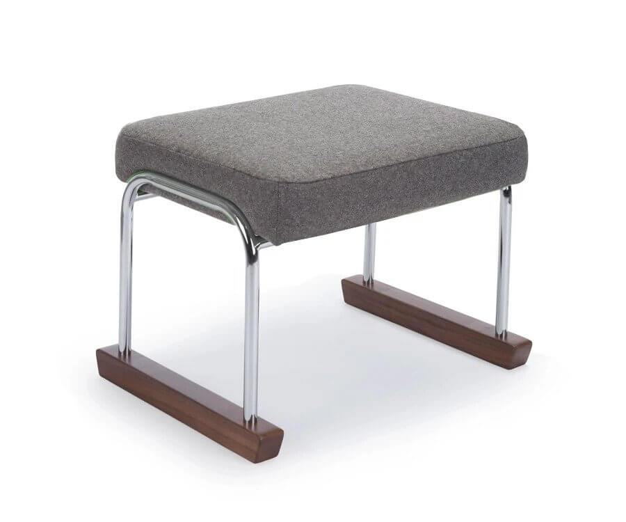 Monte Design Jackson Ottoman (Chrome) Wool & Natural Fabrics - huggle