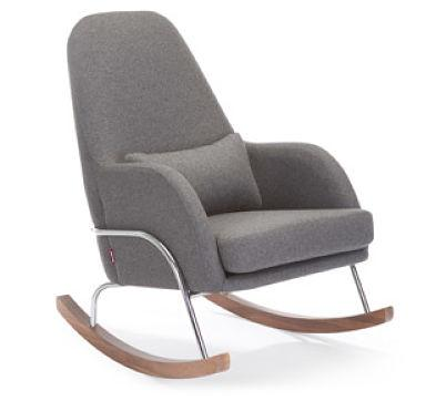 Monte Design Jackson Rocker Wool & Natural Fabrics (Chrome) - huggle