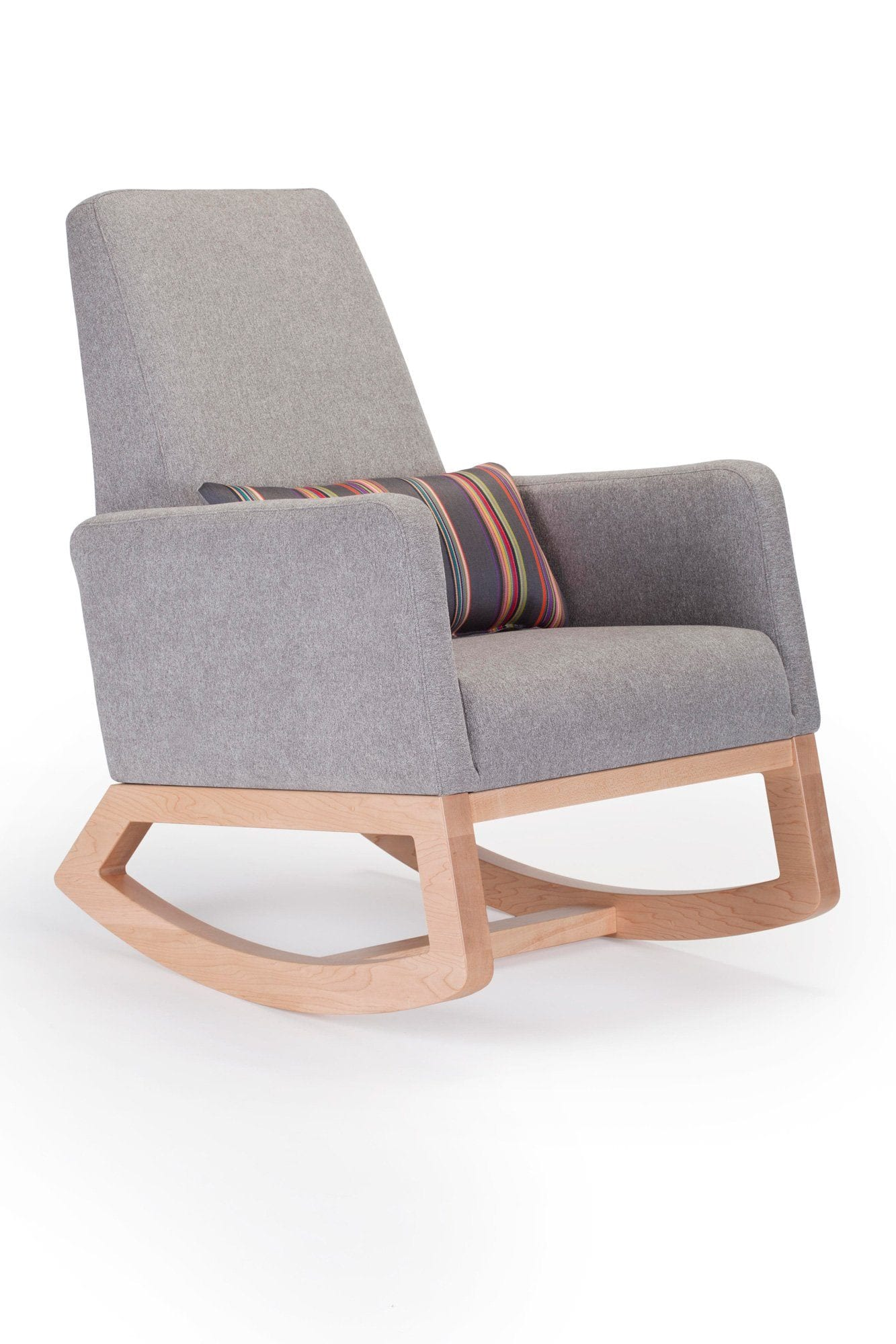 Monte Design Joya Rocker Pebble Grey Maple Base