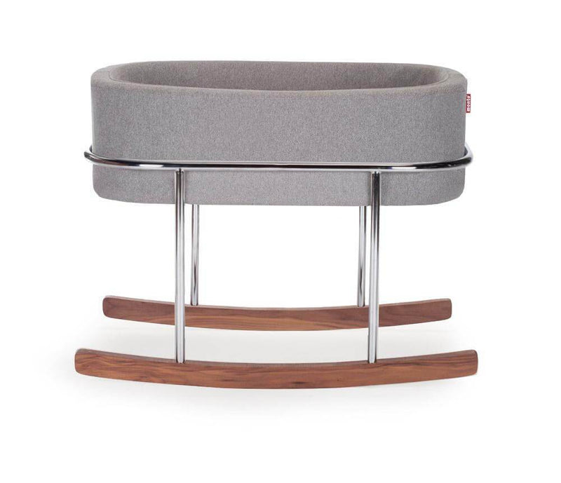 Monte Design Rockwell Bassinet - Heather Grey