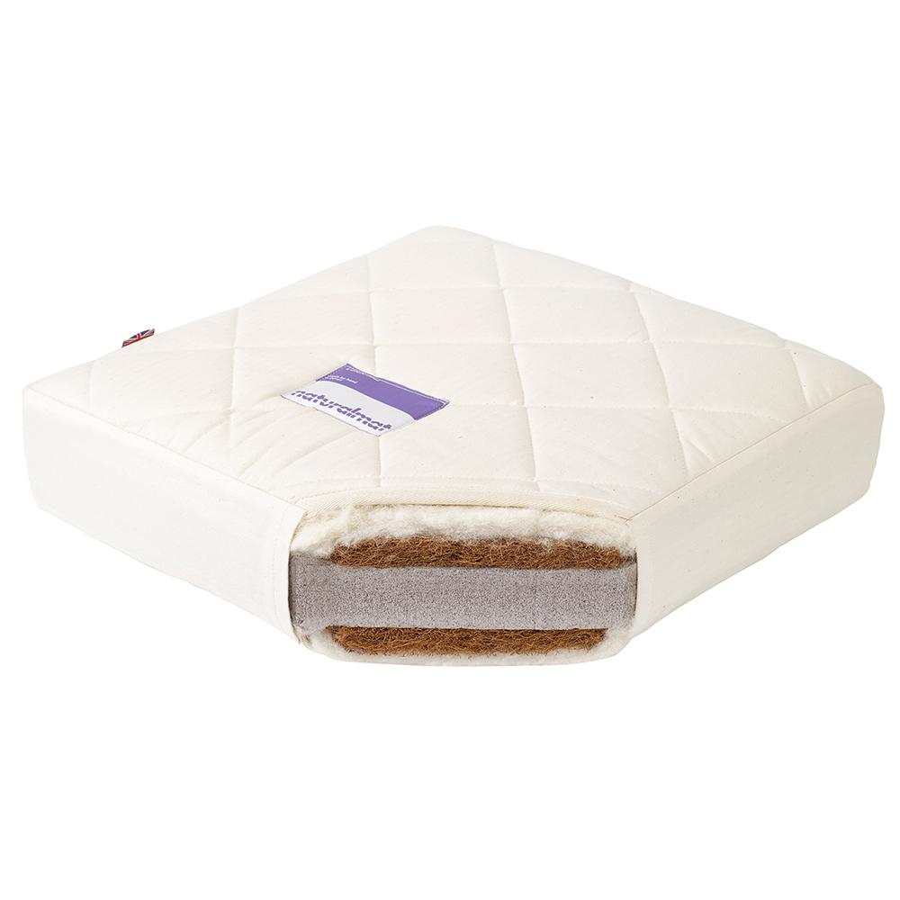 Natural Mat Quilted Latex Mat Mattress for Oliver Mini+ Cot Bed