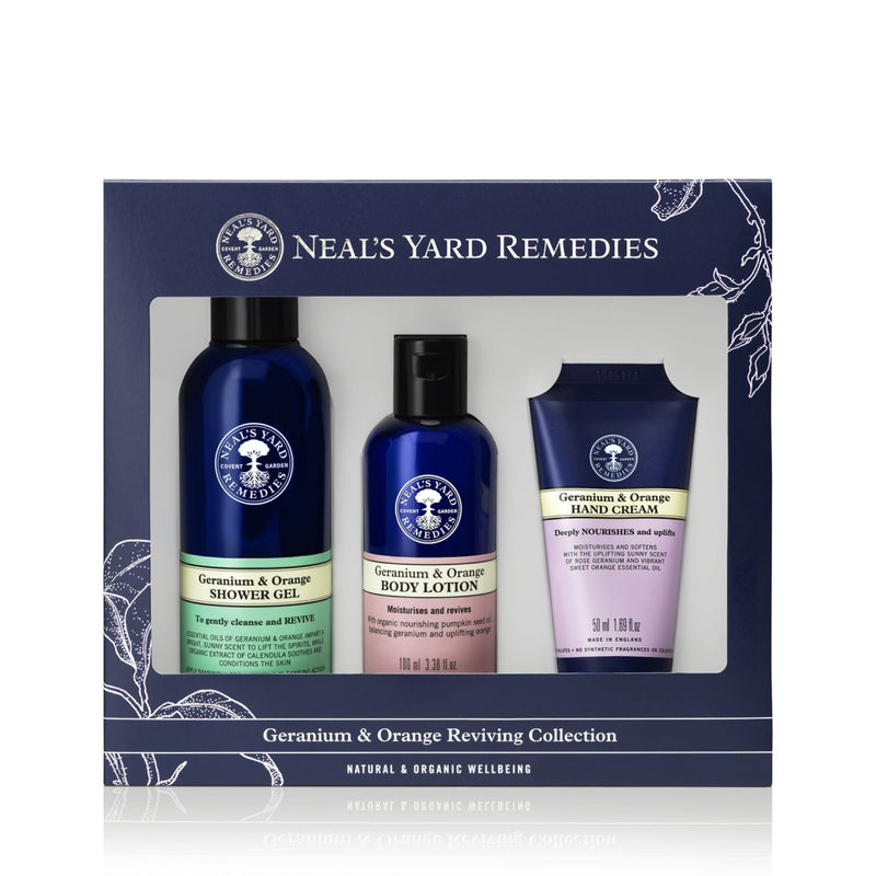 Neals Yard Geranium & Orange Reviving Collection