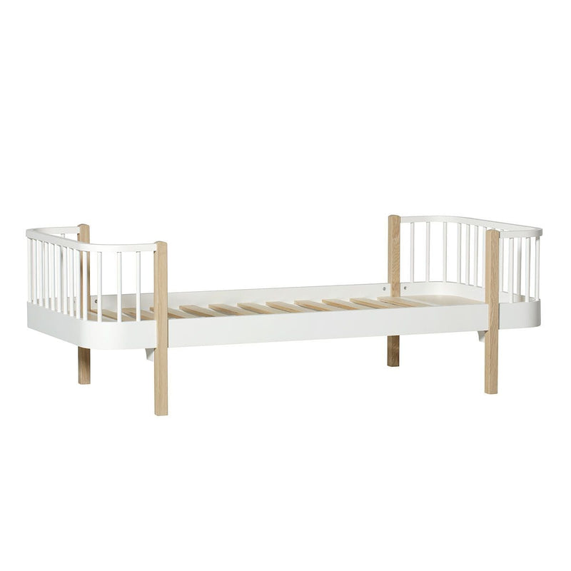 Oliver Furniture Wood Collection Single Bed White & Oak