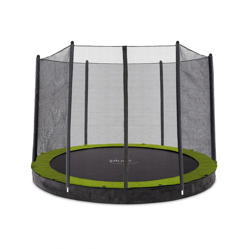 Plum 10ft Circular In Ground Trampoline with Enclosure (PVC)