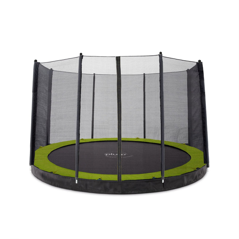 Plum 12ft Circular In Ground Trampoline with Enclosure (PVC)