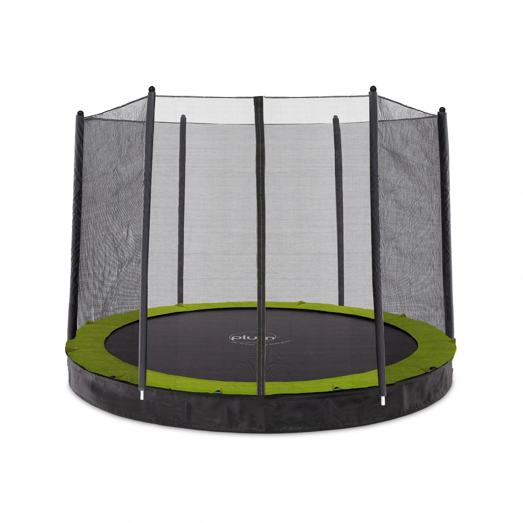 Plum 8ft Circular In Ground Trampoline with Enclosure (PVC)