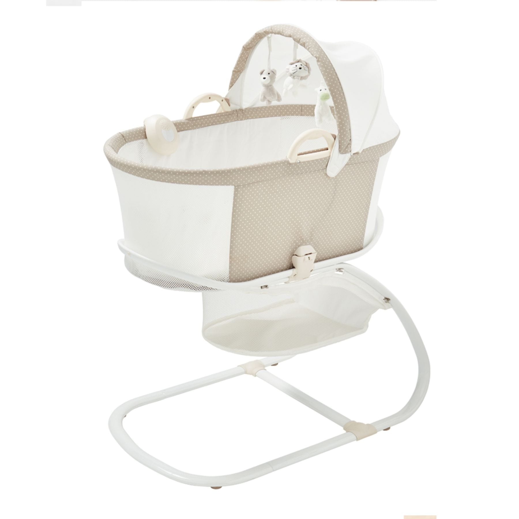 Purflo Breathable Bassinet - Soft Truffle