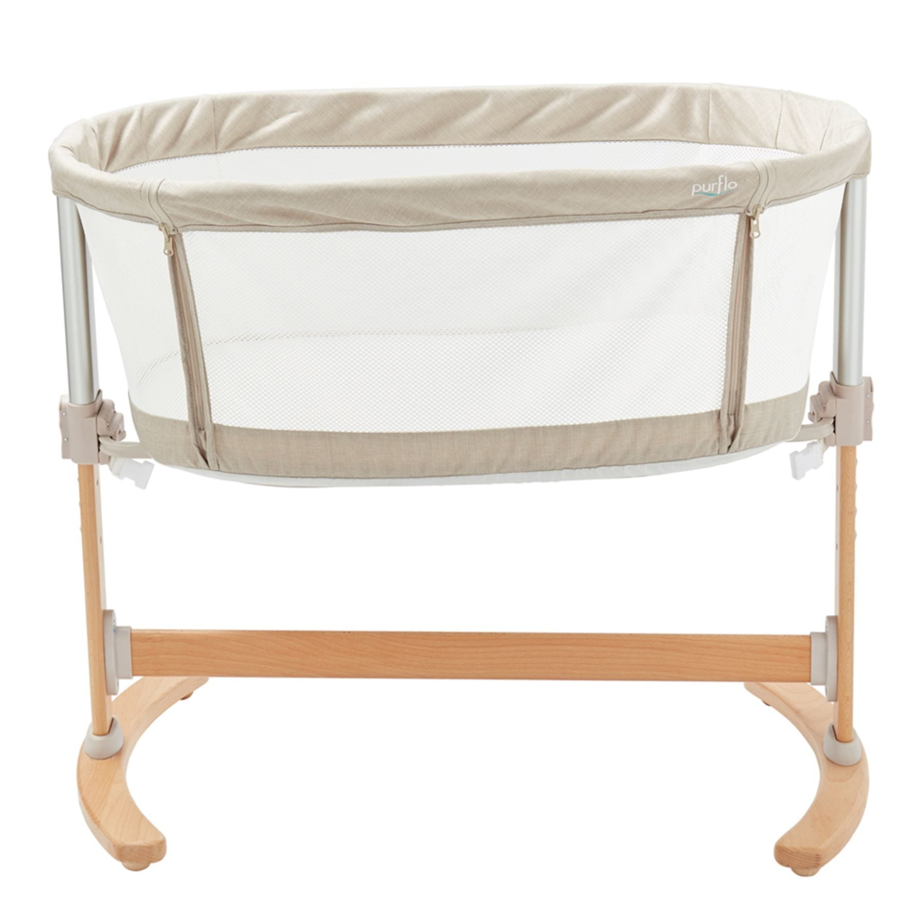 Purflo Breathable Bedside Crib - Natural
