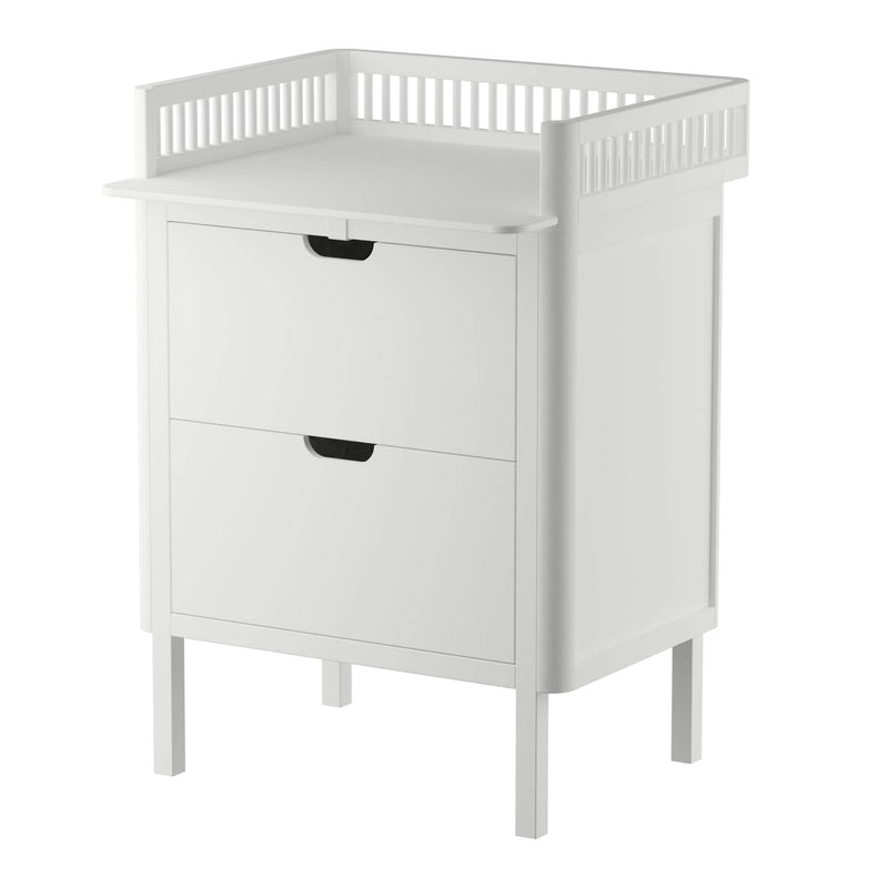 Sebra Changing Unit with Drawers - White