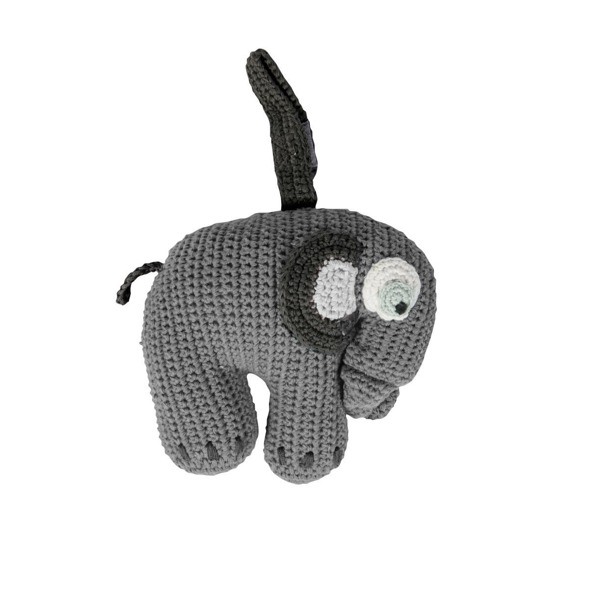 Sebra Crochet Musical Pull Toy - Fanto The Elephant - huggle