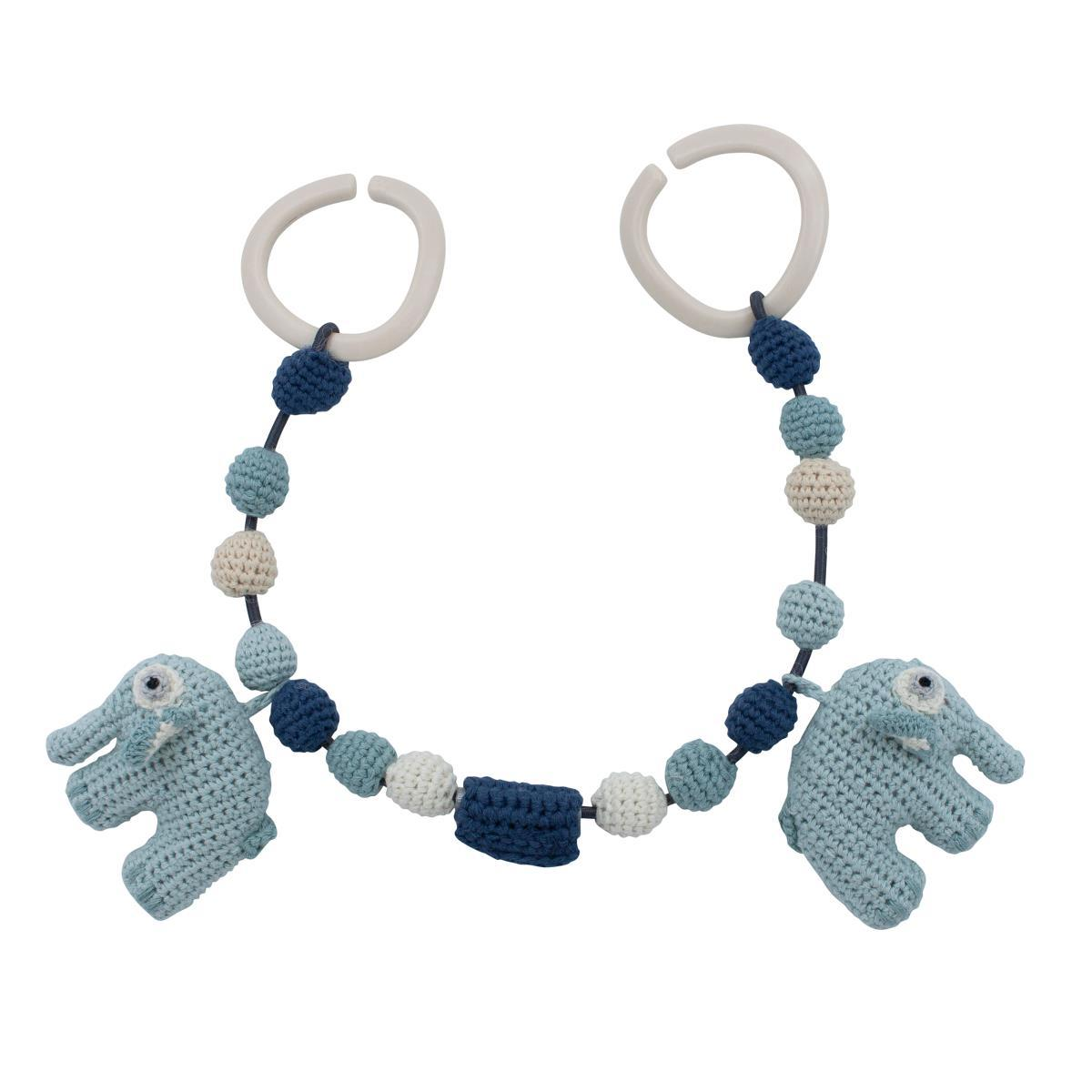 Sebra Crochet Pram Chain - Fanto The Elephant