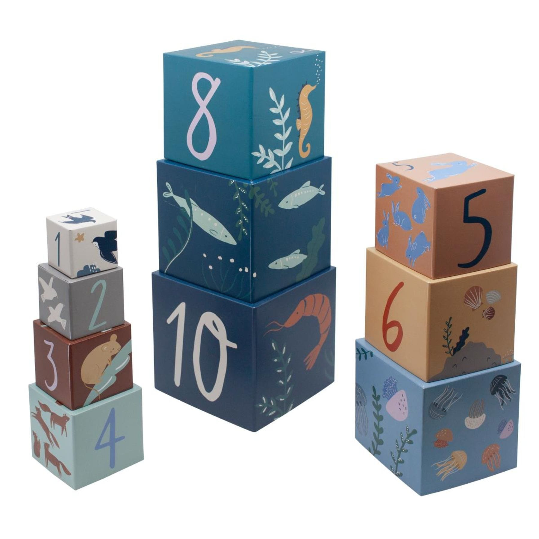 Sebra Stacking Blocks - Seven Seas/Daydream