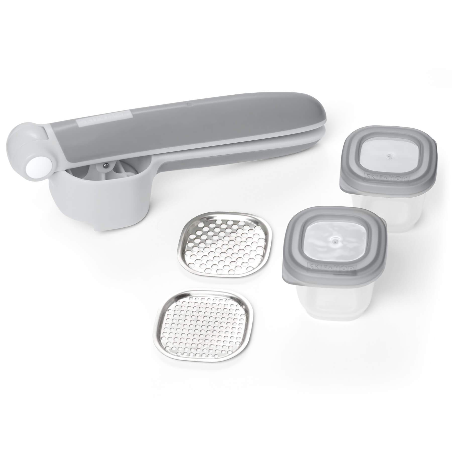 Skip Hop Infant Feeding Fresh Food Press Grey