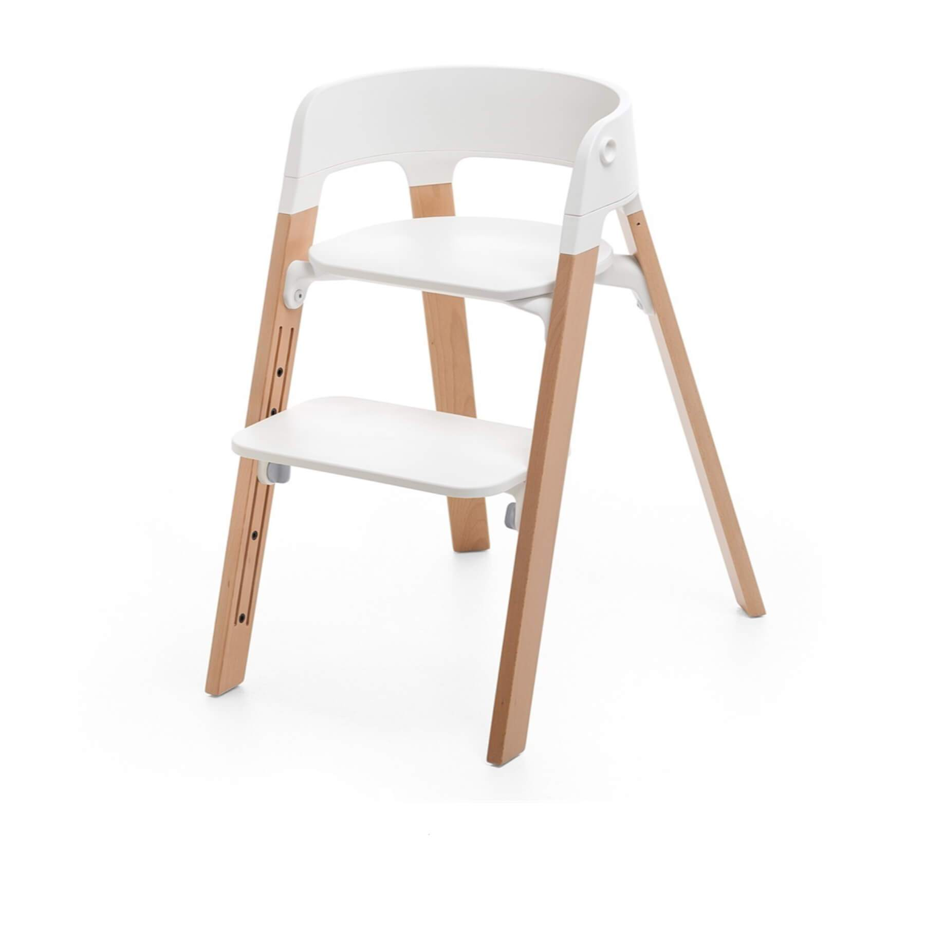 Stokke Steps Chair Beech - Natural / White