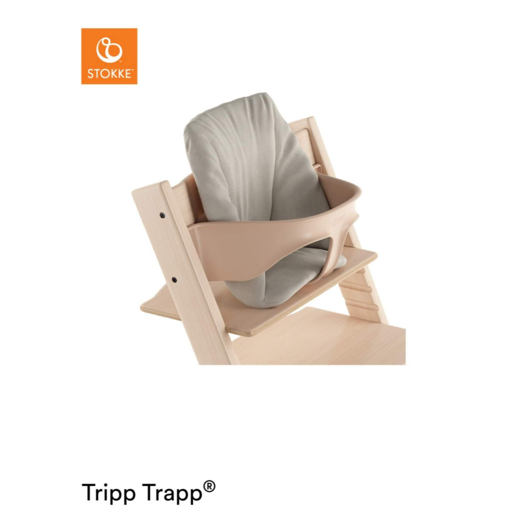 Stokke Tripp Trapp Organic Baby Cushion - Timeless Grey