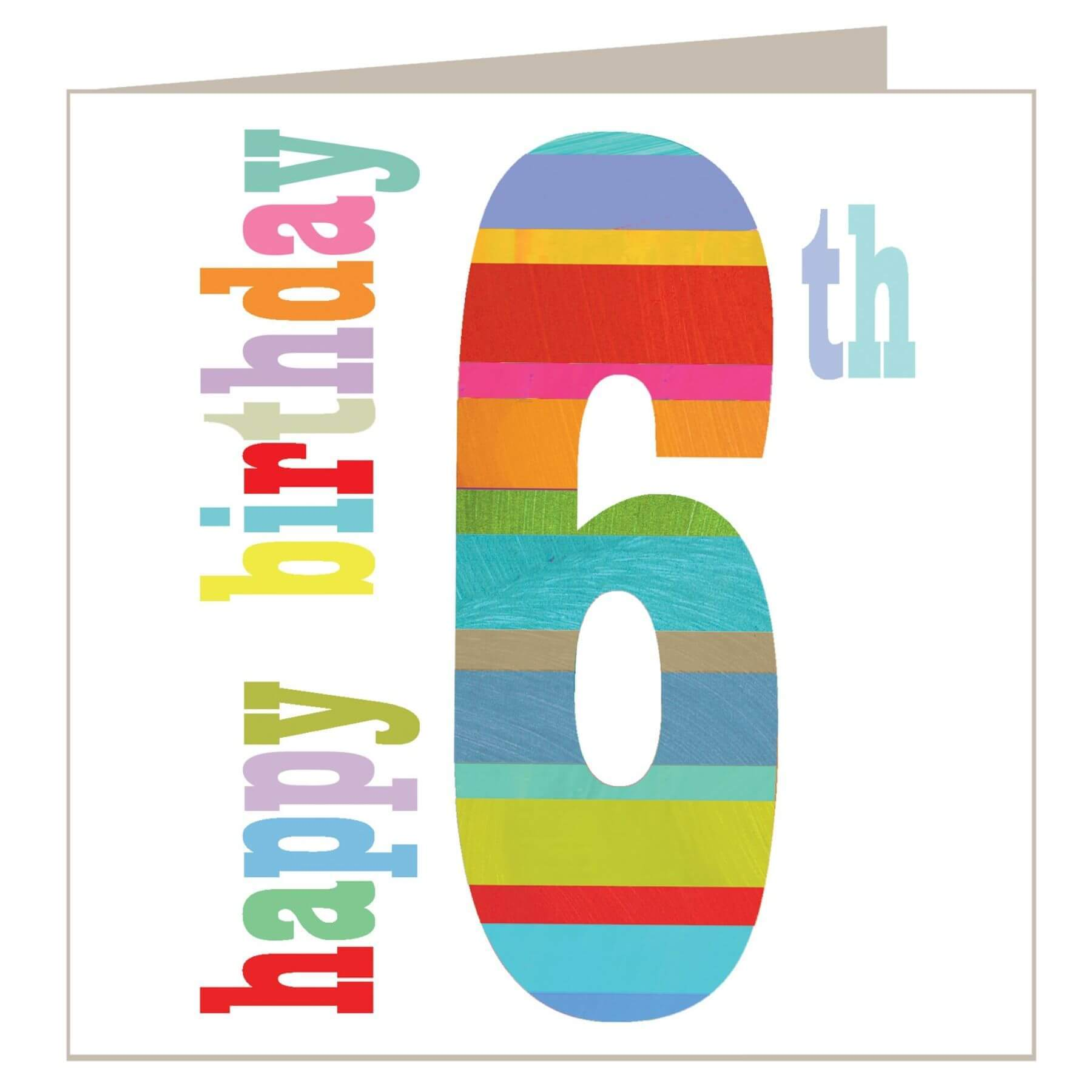 The Square Card Company 6th Birthday