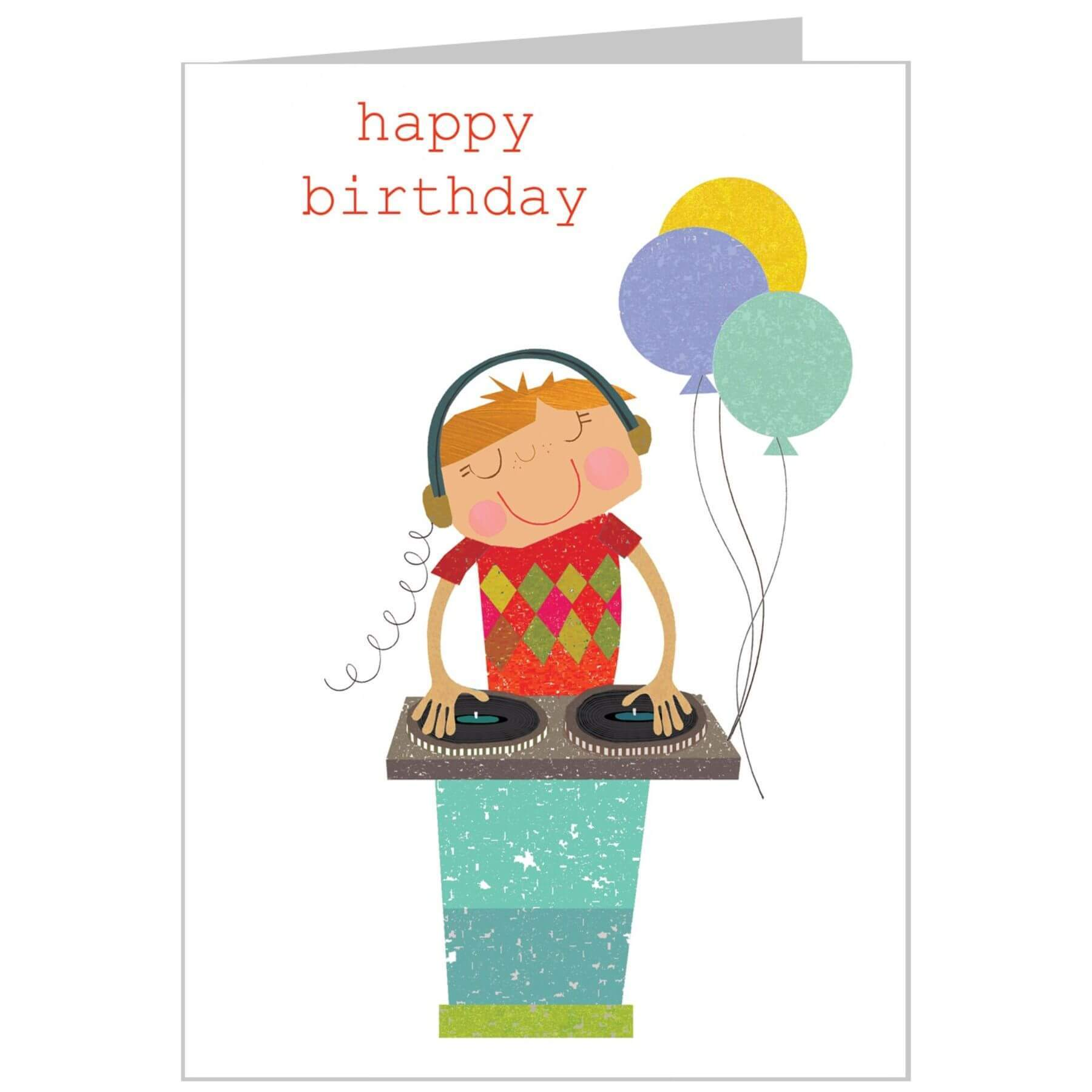 The Square Card Company DJ Birthday Card
