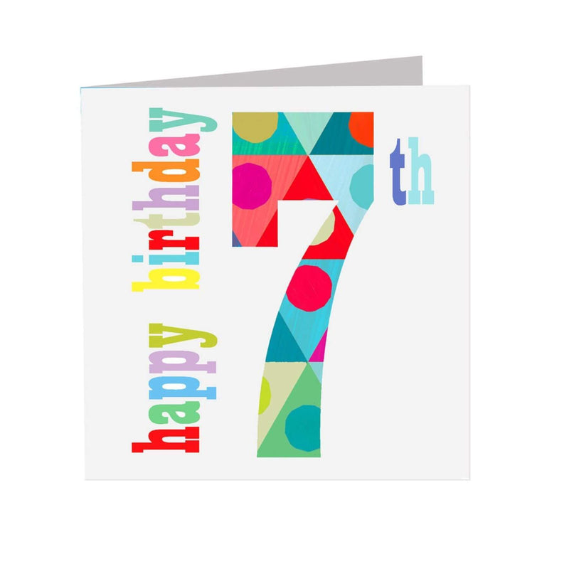 The Square Card Company Seven - Birthday - huggle