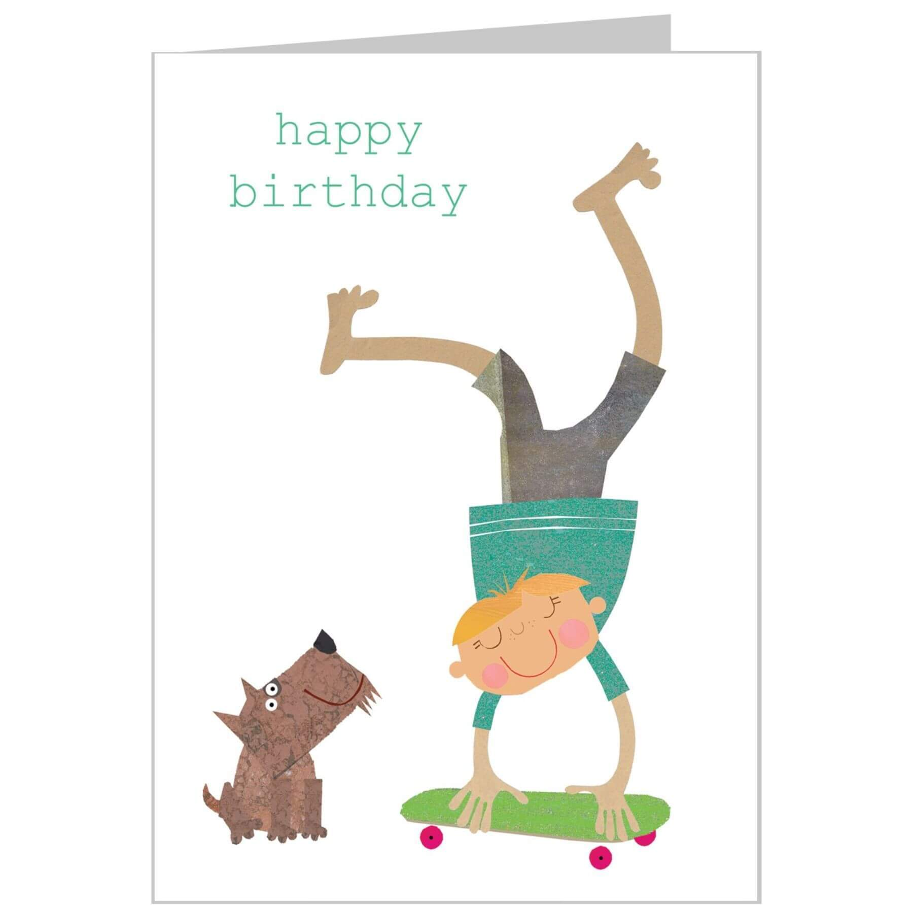 The Square Card Company Skateboarder Birthday Card