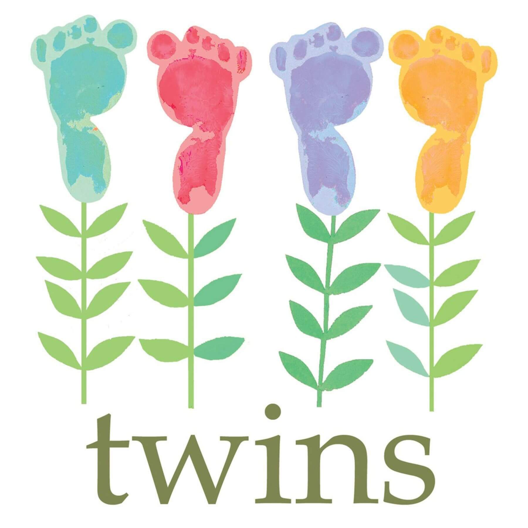 The Square Card Company Twins Card - huggle