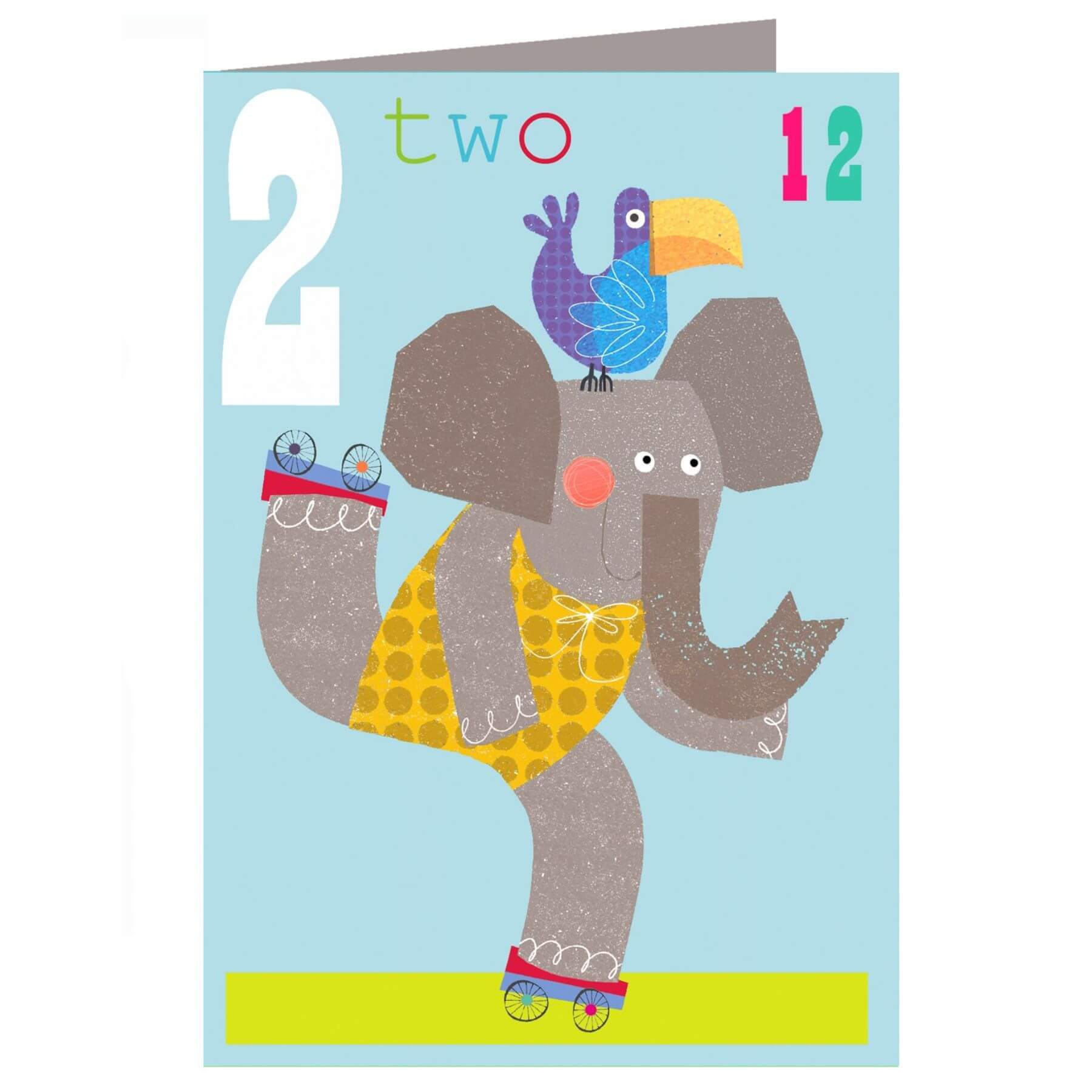 The Square Card Company Wheelie Birthday Card - Two Rollerskaters