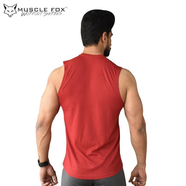 Muscle Fox Arm Day T-Shirt Maroon - The Muscle Kart.com