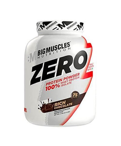 Big muscles Zero Protein Powder from 100% Whey Isolate Rich Chocolate