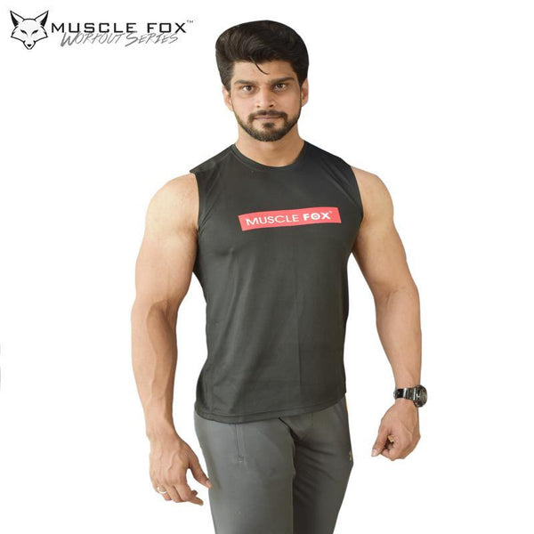 Muscle Fox Superior Black T-Shirt - The Muscle Kart.com