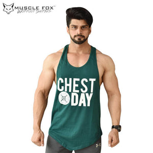 Muscle Fox Chest Day Green Vest - The Muscle Kart.com