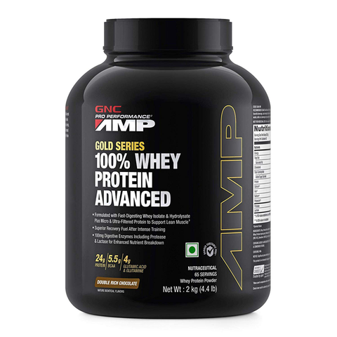 GNC AMP Gold Series 100% Whey 4.4 lbs - The Muscle Kart.com