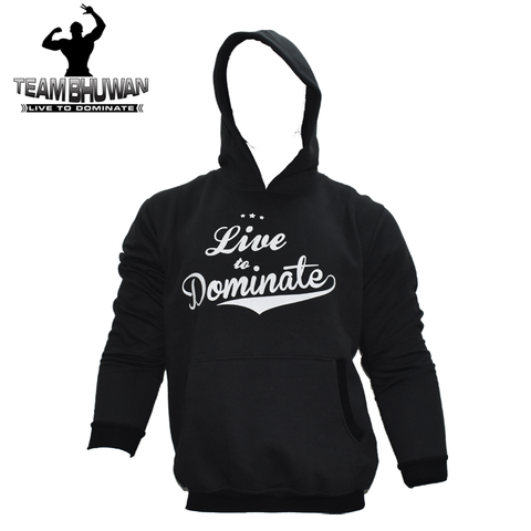 Live To Dominate Black Hoodie - The Muscle Kart.com