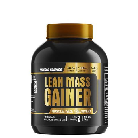 Muscle Science Lean Mass Gainer 3kg - The Muscle Kart.com