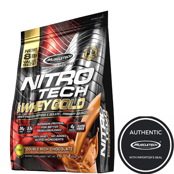 Muscletech Nitrotech Whey Gold 8lbs - The Muscle Kart.com