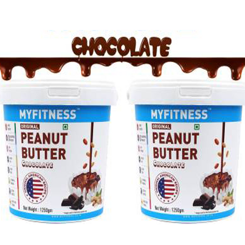 MYFITNESS Chocolate Peanut Butter 2500 g 2.5 kg  (Pack of 2) - The Muscle Kart.com