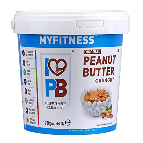 MYFITNESS Peanut Butter Crunchy 1250g - The Muscle Kart.com