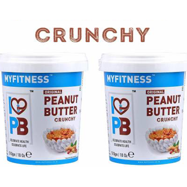 MYFITNESS Crunchy Peanut Butter (510g) 1020 g  (Pack of 2) - The Muscle Kart.com