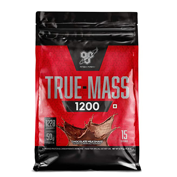 BSN True Mass 1200 10lbs Chocolate Milkshake - The Muscle Kart.com