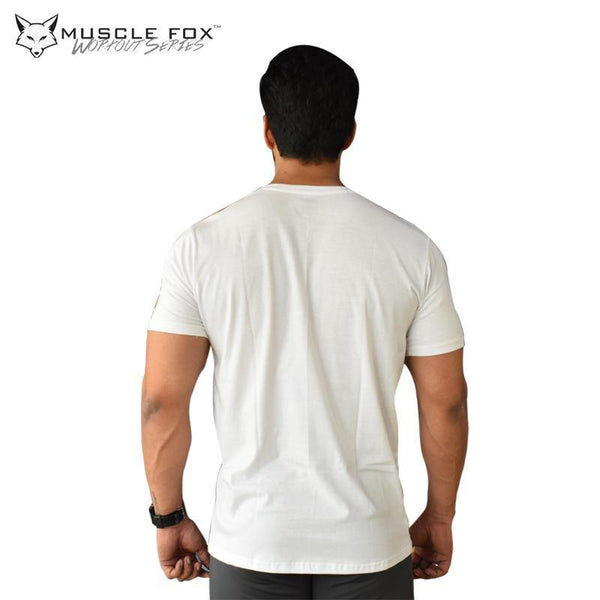 Muscle Fox Superior White T-Shirt - The Muscle Kart.com