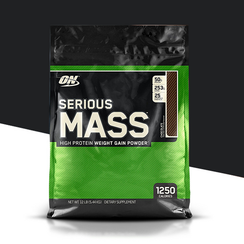 Optimum Nutrition Serious Mass,12 lbs Chocolate - The Muscle Kart.com