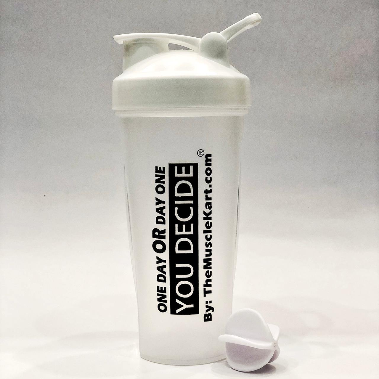 Viver White DAY ONE Protein Workout / Gym Shaker - The Muscle Kart.com