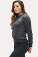 Women's Crew Neck Sweatshirt - Minimal Charcoal Thumbnail
